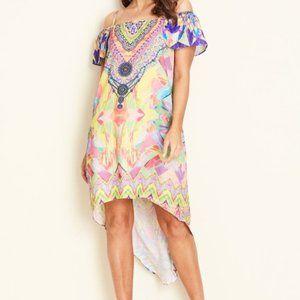 Crossroads Sz 12 Calypso Cold Shoulder Maxi Dress